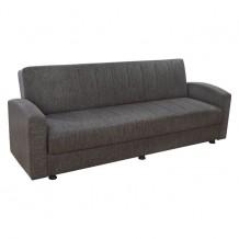 Καναπές κρεβάτι 3 θέσεων καφέ c23570