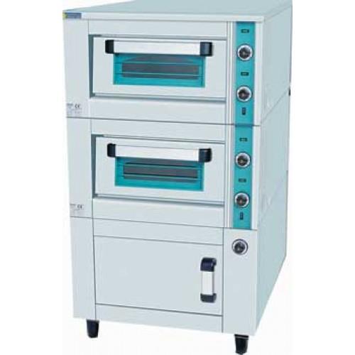 Ηλεκτρικός φούρνος πίτσας διπλός με θερμοθάλαμο 1110