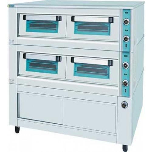 Ηλεκτρικός φούρνος πίτσας διπλός με θερμοθάλαμο 1480