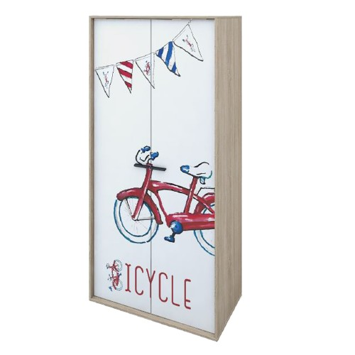 BICYCLE ΝΤΟΥΛΑΠΑ SONOMA ΜΕ PATTERN 90x50xH190cm c247549