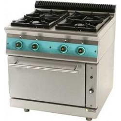 Εστίες αερίου μαντέμι με φούρνο 850