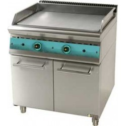 Ψησταριά grill πλατό αερίου διπλή με ερμάριο 90