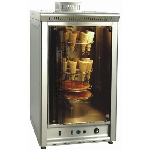 Αερόθερμος φούρνος αερίου για πίτσα χωνάκι