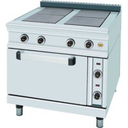 Ηλεκτρική κουζίνα 4 εστιών με φούρνο