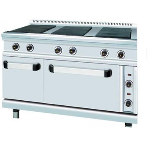 Ηλεκτρική κουζίνα 6 εστιών με φούρνο και ερμάριο