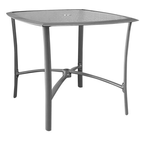 Ivy Τραπέζι Αλουμινίου 85X85X70Ycm Silver c270965