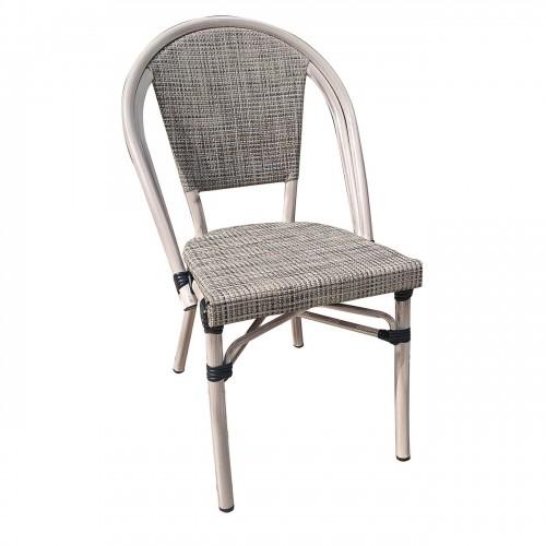 COSTA Καρέκλα Dining Αλουμινίο Antique Grey Textilene Μπεζ c338480