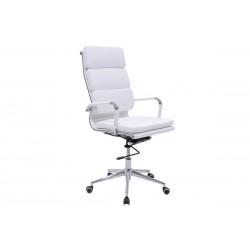 Πολυθρόνα γραφείου διευθυντή Tokyo δερματίνη χρώμα λευκό c34707