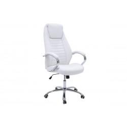 Πολυθρόνα γραφείου διευθυντή Sonar δερματίνη χρώμα λευκό c34709