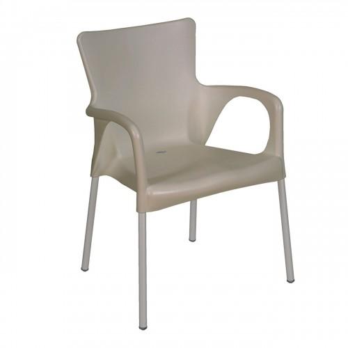 LARA Πολυθρόνα Στοιβαζόμενη PP UV Tortora c347568