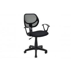 Πολυθρόνα γραφείου εργασίας Sara ύφασμα mesh χρώμα μαύρο c35077