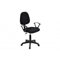 Πολυθρόνα γραφείου εργασίας Maria ύφασμα mesh χρώμα μαύρο c35081