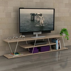 Έπιπλο TV σε χρώμα sonama - λευκό c35171