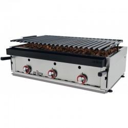 Barbecue αερίου επιτραπέζιο με ηφαιστειακή πέτρα 90bar c37714