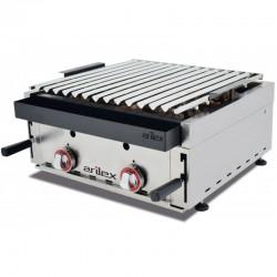 Barbecue αερίου επιτραπέζιο με ηφαιστειακή πέτρα BARINOX60 c37716