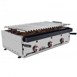 Barbecue αερίου επιτραπέζιο με ηφαιστειακή πέτρα BARINOX90 c37717