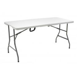 Τραπέζι catering RODEO ορθογώνιο πτυσσόμενο βαλίτσα με μεταλλική βάση χρώματος γκρι c38125