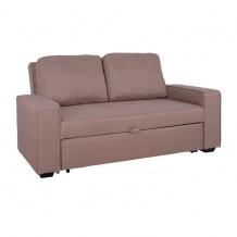 Καναπές κρεβάτι 2θέσιος HM3082 04 με μπεζ ύφασμα c40106