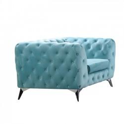 BARLOW πολυθρόνα ύφασμα Powder Blue Velure c41327