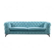 BARLOW καναπές 3θέσιος ύφασμα Powder Blue Velure c41329