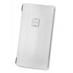 Menu δερμάτινο άσπρο 15.3x29.7cm c42486