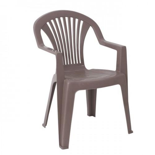 LIDO Πολυθρόνα Στοιβαζόμενη Πλαστική Μπεζ Tortora c42593