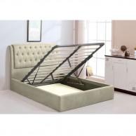 MAXWELL Κρεβάτι 160x200cm ύφασμα εκρού αποθ. χώρος c43087
