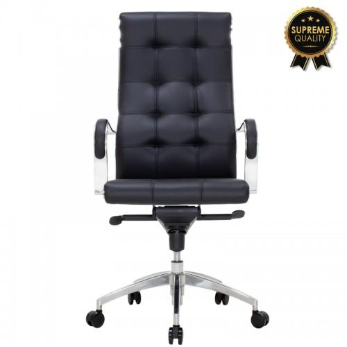 Καρέκλα γραφείου διευθυντή Alabama SUPREME QUALITY με μαύρο τεχνόδερμα c43826