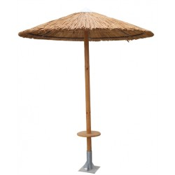 Ομπρέλα ξύλινη 280*280 με τραπεζάκι φ040 82ag