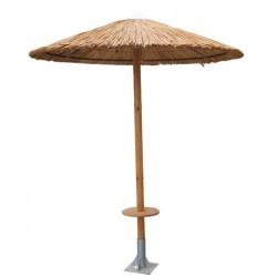 Ομπρέλα ξύλινη 300*300 με τραπεζάκι φ040 82ag