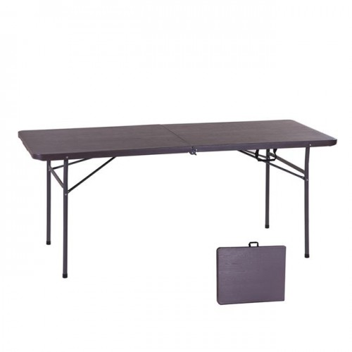 BLOW συνεδρίου βαλίτσα τραπέζι 180x74cm Grain καρυδί c55246