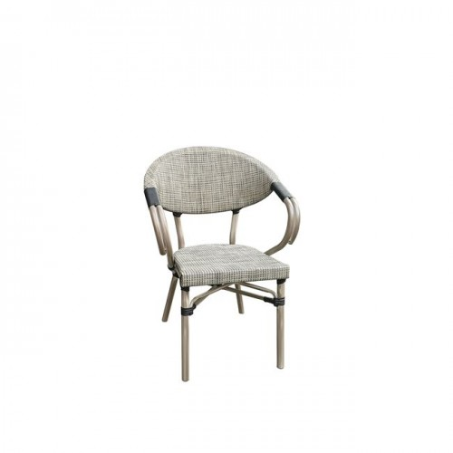 COSTA πολυθρόνα Alu Antique Grey Textilene Μπεζ c55346