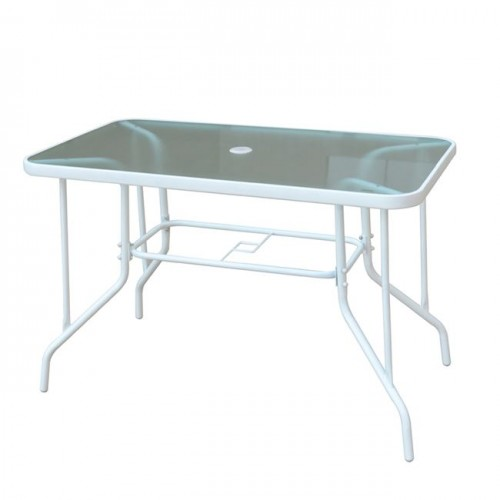 BALENO τραπέζι 110x60cm μεταλλικό άσπρο c55789
