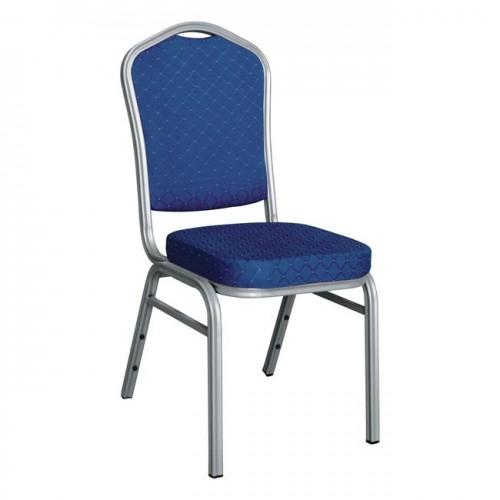 Καρέκλα συνεδρίου CATERING SILVER HILTON μπλε ύφασμα c56983