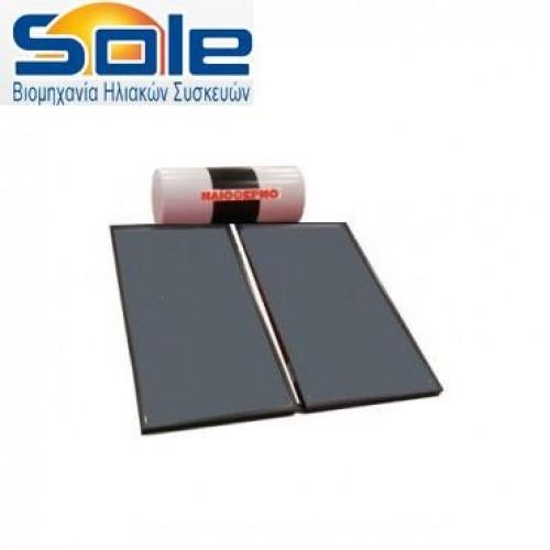 Ηλιακός θερμοσίφωνας 200 λίτρων διπλής ενέργειας c5so