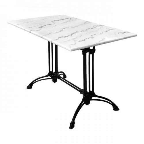 Τραπέζι με δίστηλη βάση από μαντέμι HM5612 με μάρμαρο 110Χ70Χ71Υεκ c59192