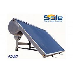 Ηλιακός θερμοσίφωνας 150 λίτρων διπλής ενέργειας χαμηλού ύψους 12so