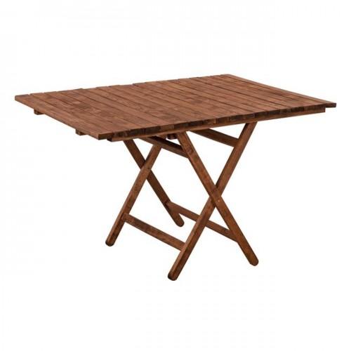 Τραπέζι σκηνοθέτη ΛΗΜΝΟΣ μασίφ οξιά εμποτισμός καρυδί HM5649 01 120X80X75Y εκ c60029