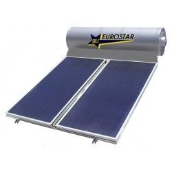 Ηλιακός θερμοσίφωνας 200 λίτρων με διπλό συλλέκτη μπλέ τιτανίου