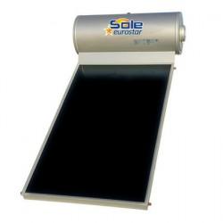 Ηλιακός θερμοσίφωνας 120 λίτρων με 1 συλλέκτη μαύρης βαφής