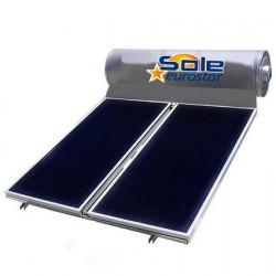 Ηλιακός θερμοσίφωνας 200 λίτρων με 2 συλλέκτες μαύρης βαφής