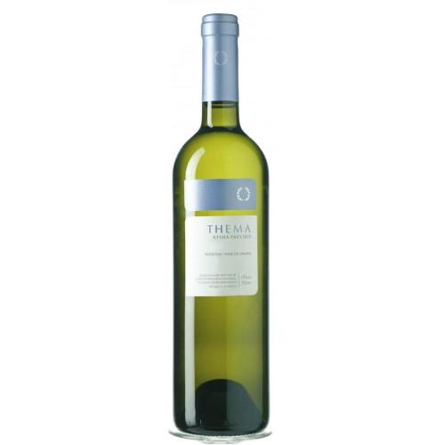 Λευκός οίνος ξηρός thema κτήμα Παυλίδη 750ml 3ai