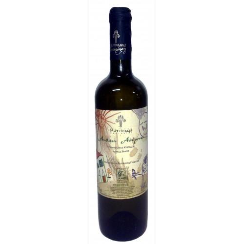 Βιολογικός λευκός οίνος ξηρός Σαντορίνη Αηδάνι 750ml 3ai