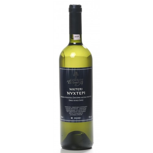 Λευκός οίνος ξηρός Σαντορίνη νυχτέρι Χατζηδάκη 750ml 3ai