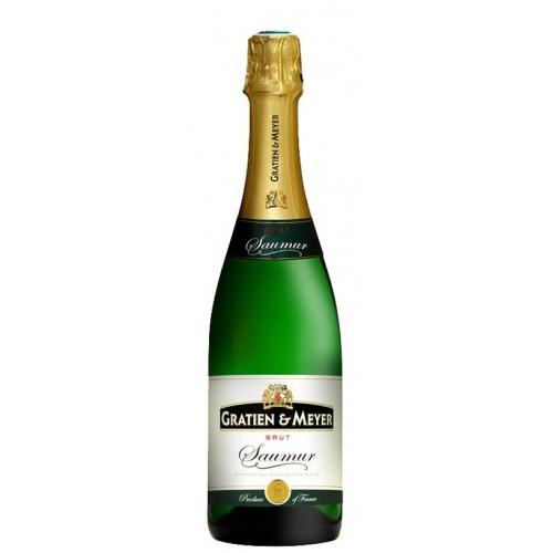Αφρώδης οίνος λευκός ξηρός gratien meyer brut 19ai