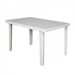 Τραπέζι 100x67cm πλαστικό λευκό c8650
