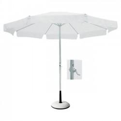 Ομπρέλα φ300cm αλουμινίου λευκό ύφασμα c8680
