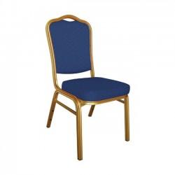 Καρέκλα μεταλλική gold ύφασμα μπλε c9174.
