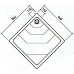 Καμπίνα ντούζ υδρομασάζ χαμάμ τετράγωνη